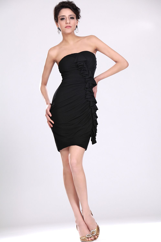 coiffurete dance robe de soir e bleue nuit courte. Black Bedroom Furniture Sets. Home Design Ideas
