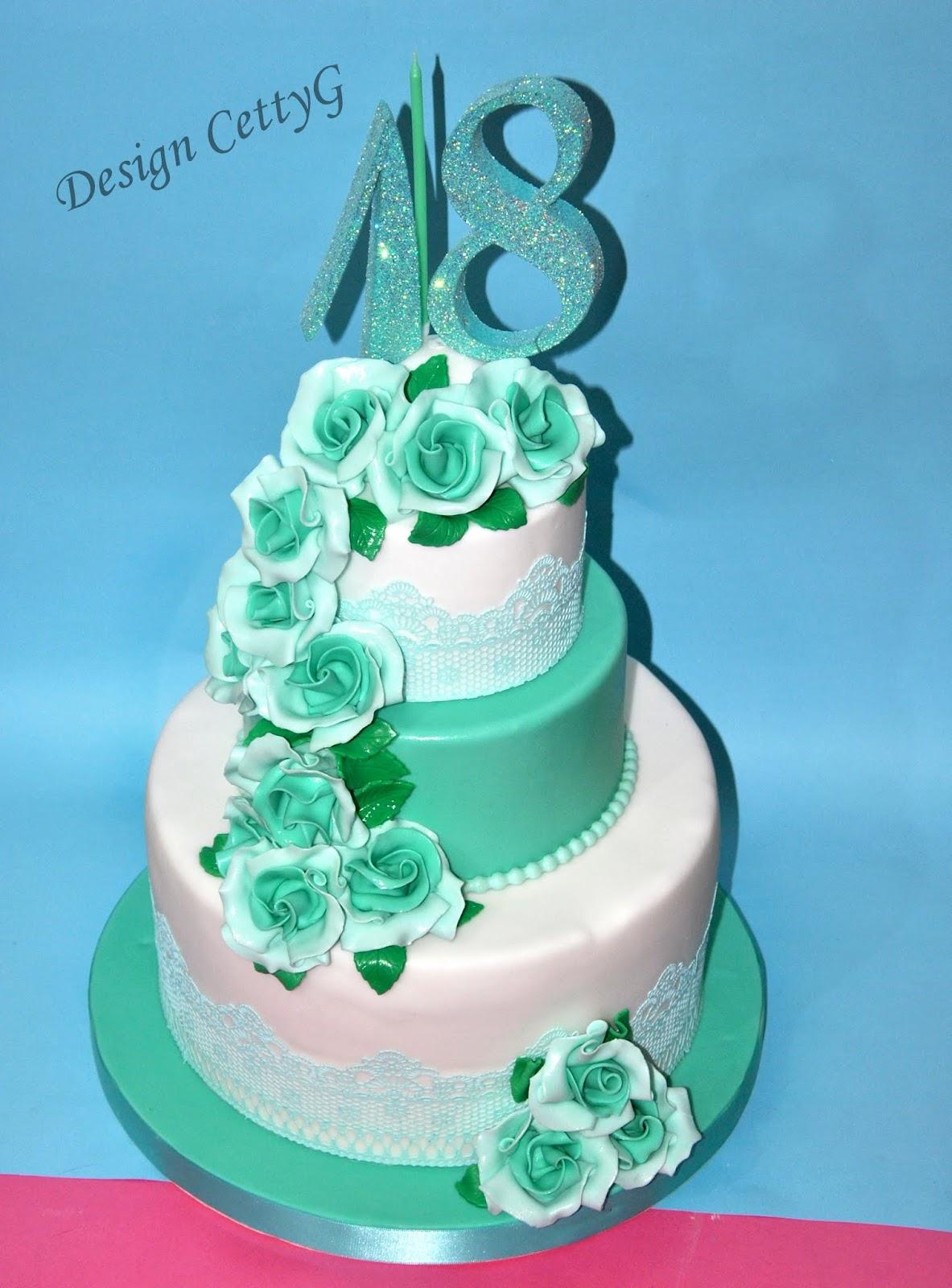 Le torte decorate di cettyg 18 compleanno color tiffany for Torte di compleanno particolari per uomo