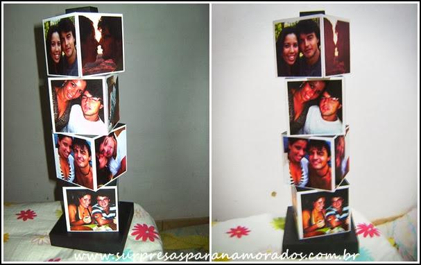 torre de cubos personalizada com fotos