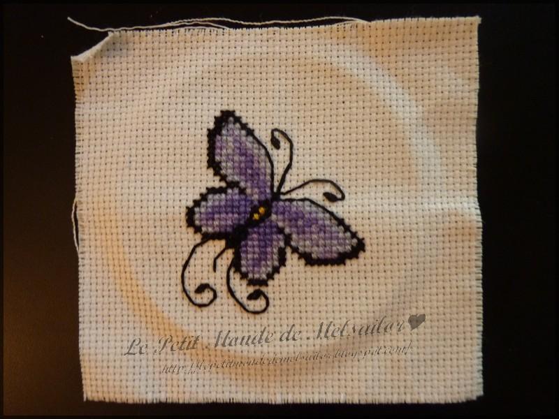 Le petit monde de melsailor petit papillon en point de croix - Modele de papillon ...