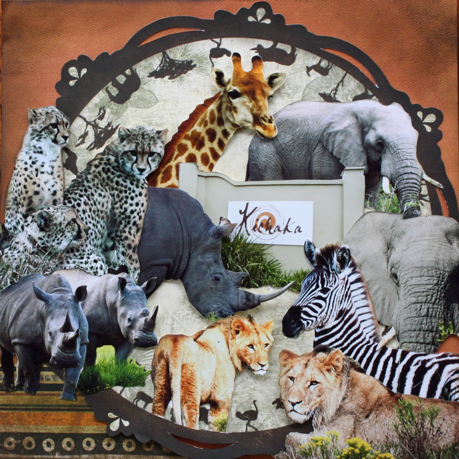 Scrapbook ideas zoo - Collage Of Photo Doubles Better Than Just Throwing Them Out
