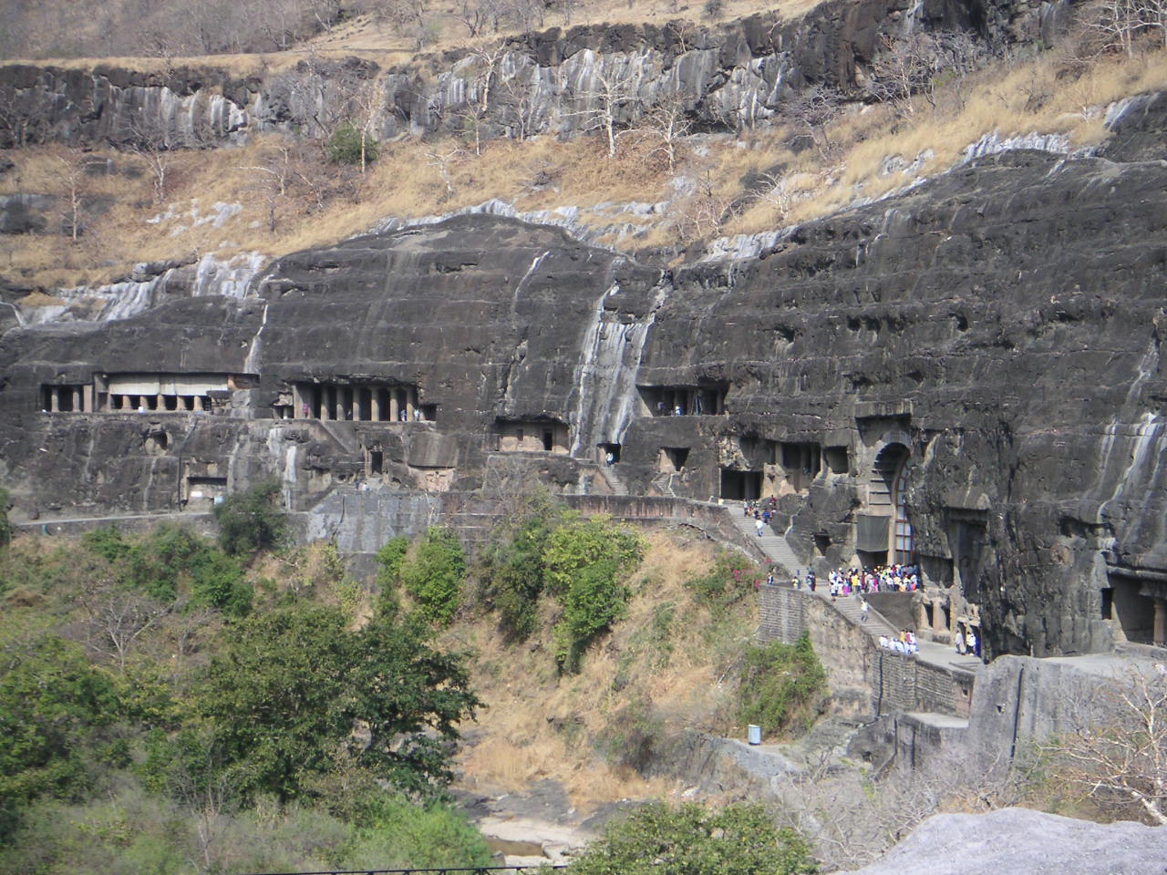 Four ajanta caves to shut doors to tourists the for Archaeological monuments in india mural paintings