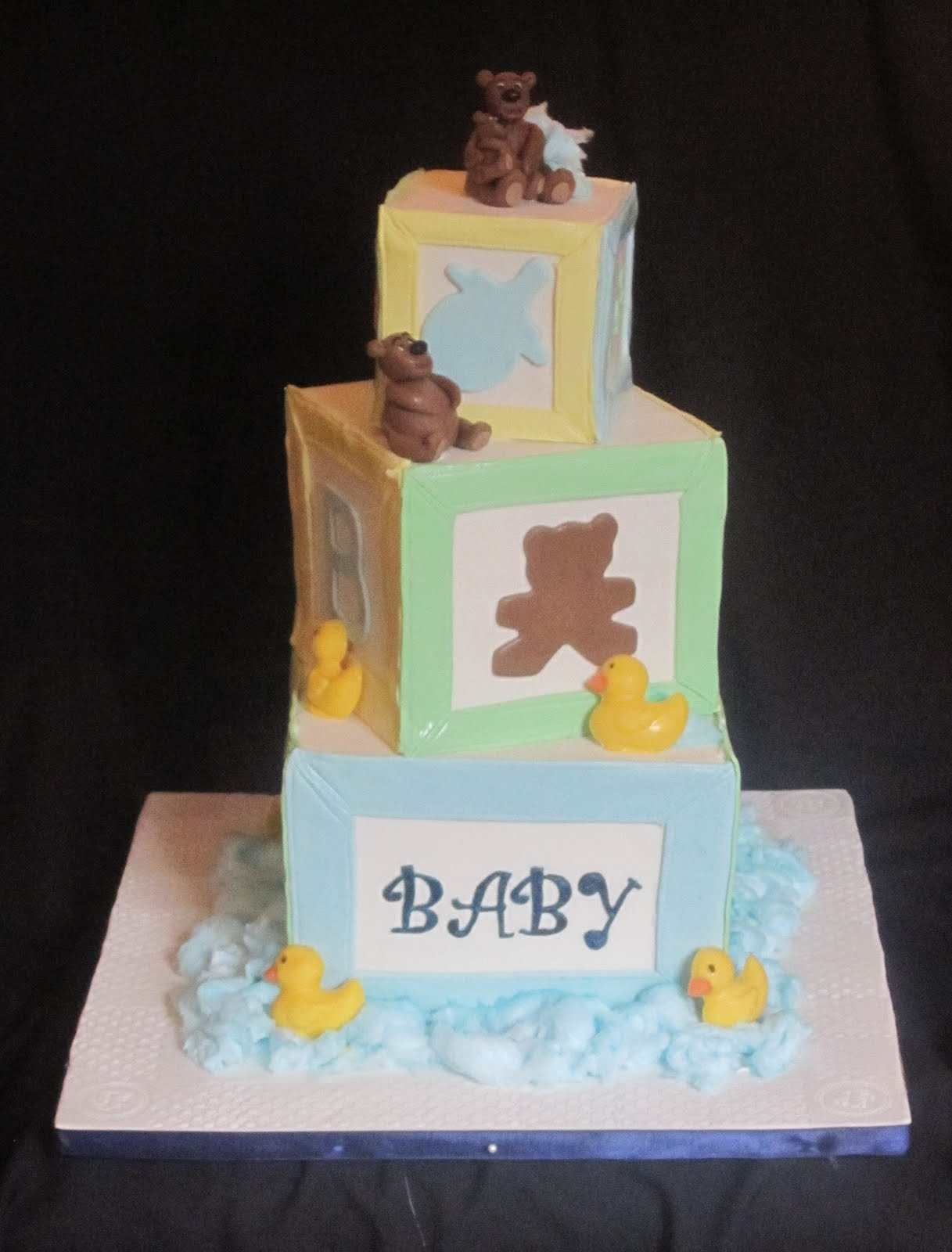 ... Stacked Baby Blocks Cake to Tamara's baby shower this past weekend