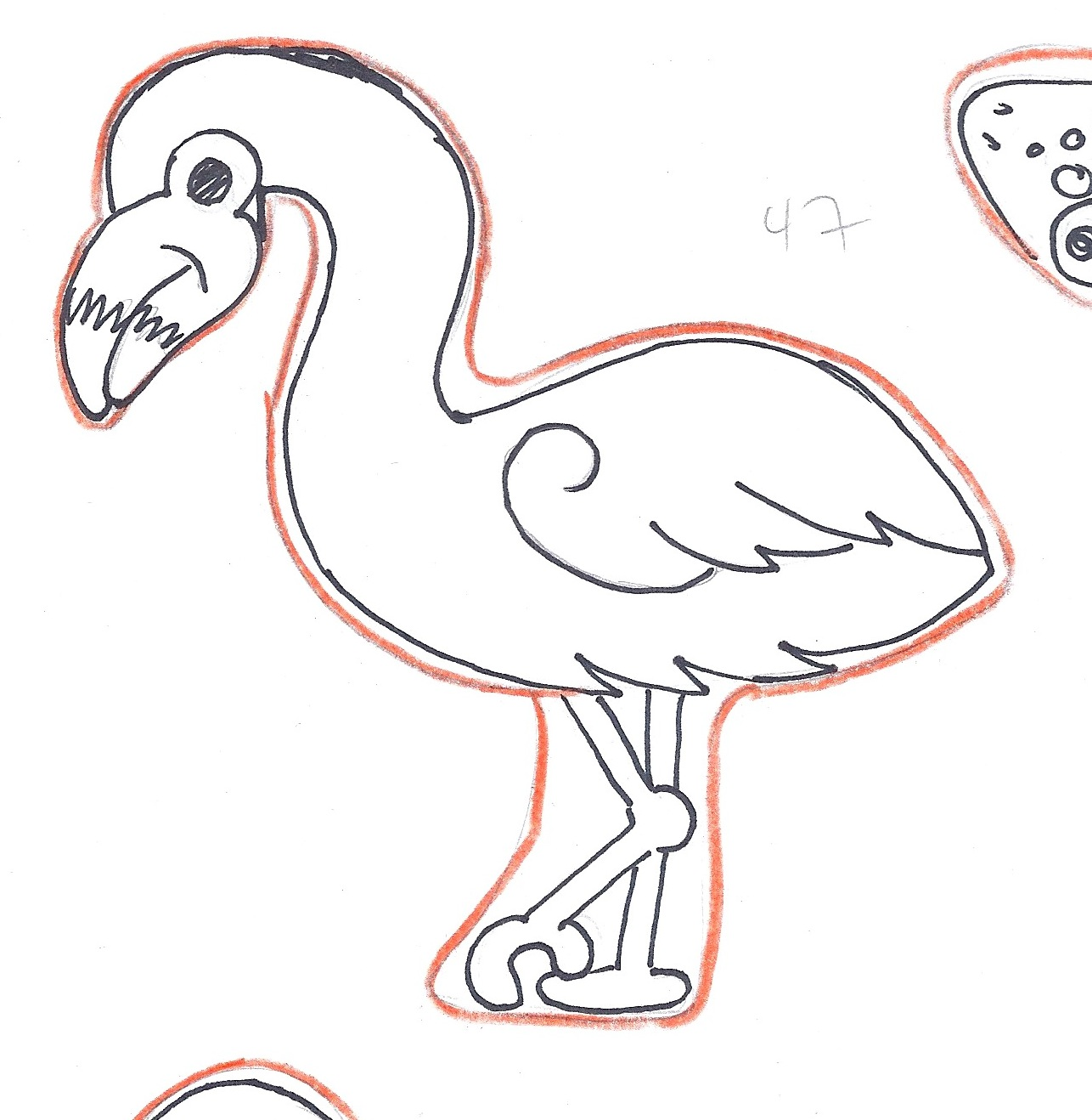 Wilton animal cutter set outline template ideas montreal bird flamingo pronofoot35fo Images