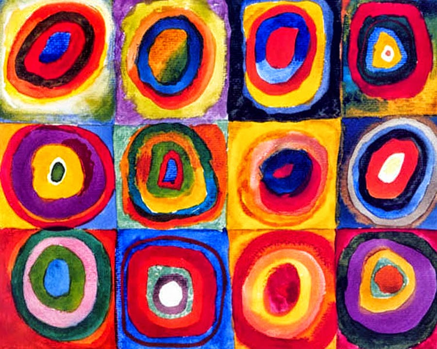 Wassily Kandinsky - Color Study. Squares with Concentric Circles. 1913