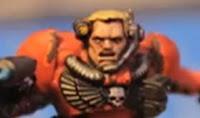 Warhammer 40000 cabeza de un explorador de los Ángeles Sangrientos de Warhammer 40000