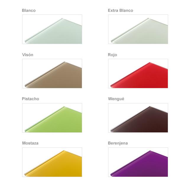 Colores disponibles cristal mesa punto cocina