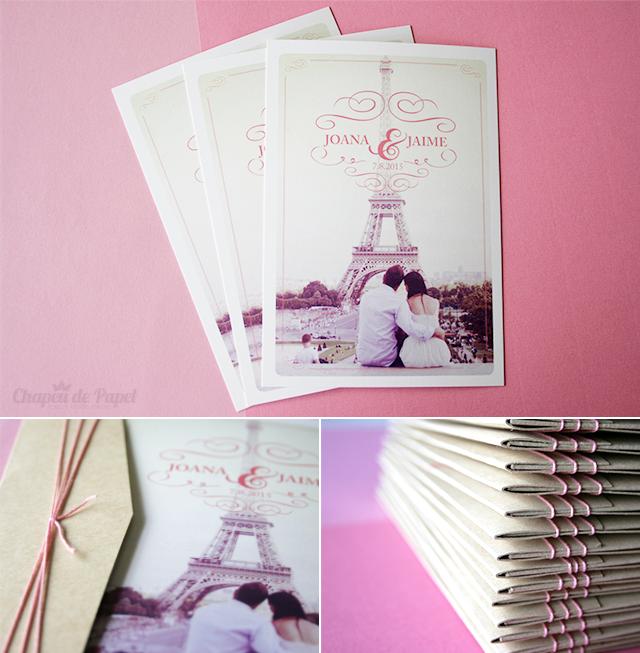 Convites Casamento Paris