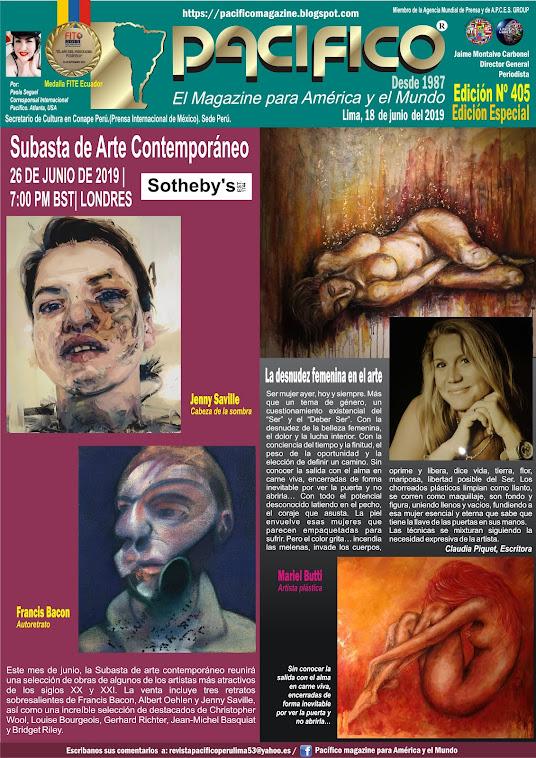 revista Pacifico N° 405 Edición Especial Artistas