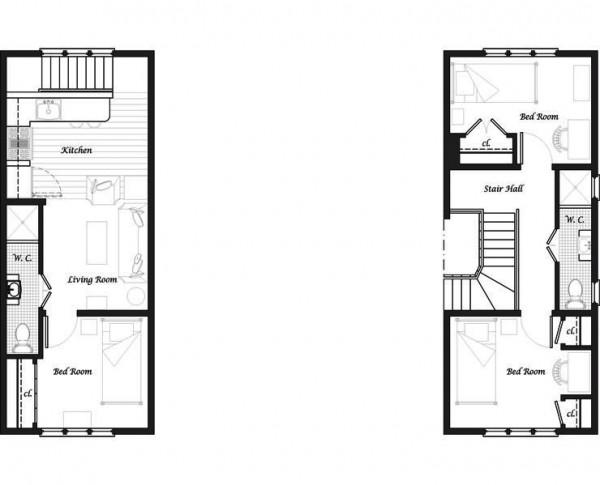 Plano y fachada de casa habitaci n de dos niveles y 3 for Diseno de casa de 5 x 10