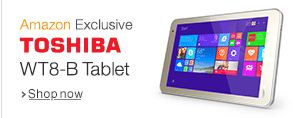 Snapdeal : Toshiba WT8-B Tablet (8.0-inch, 32GB, WiFi) at Rs.8,249 only