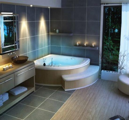 Casas de banho de luxo ideias decora o mobili rio for Jacuzzi casa moderna