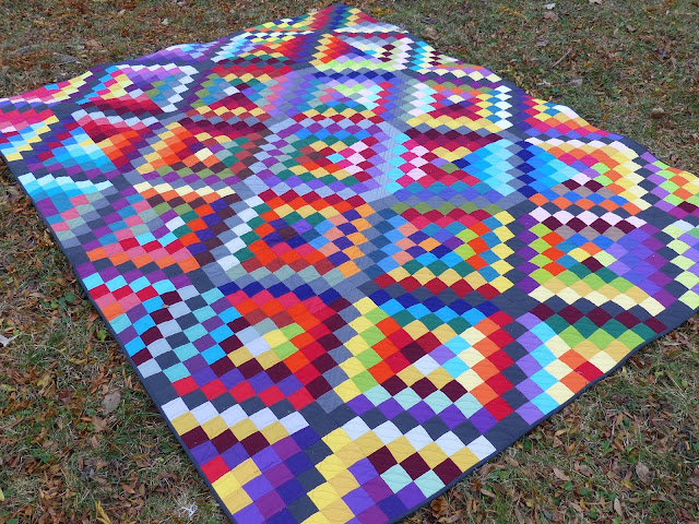 Carsick quilt on grass