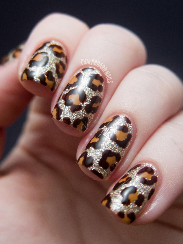 Blinged Out Leopard - China Glaze On Safari Nail Art | Chalkboard ...