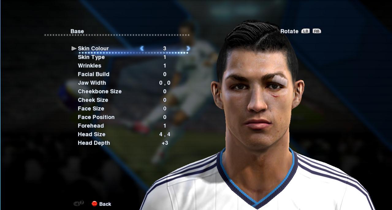 Pes Patch Malaysia Patch Cristiano Ronaldo Face Update By - New face hair cristiano ronaldo pes 2013