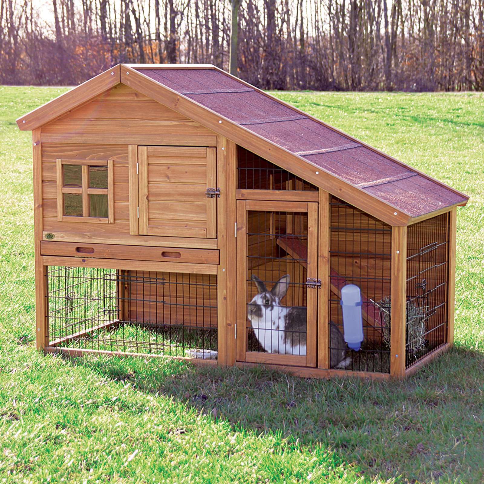 Hd animals outdoor rabbit cages for Cabane a lapin exterieur