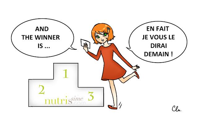 Charlotte annonce les gagnants du concours de Nutrissime