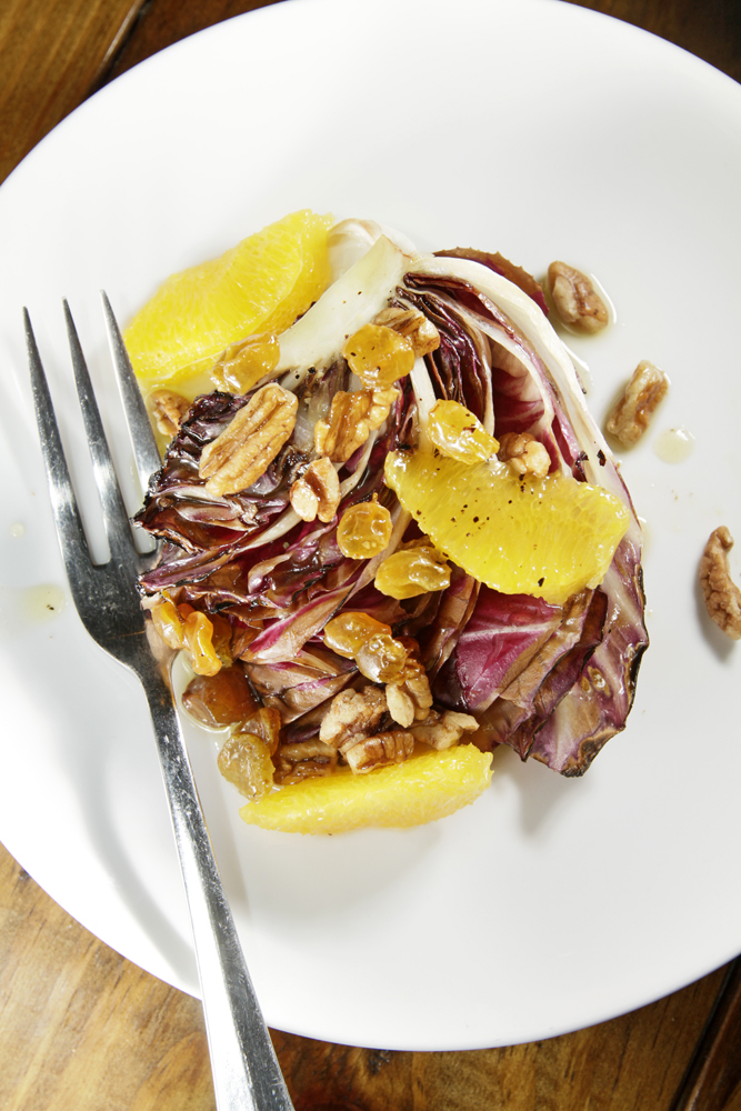 The Chubby Vegetarian: Grilled Radicchio Salad + Oranges + Golden ...