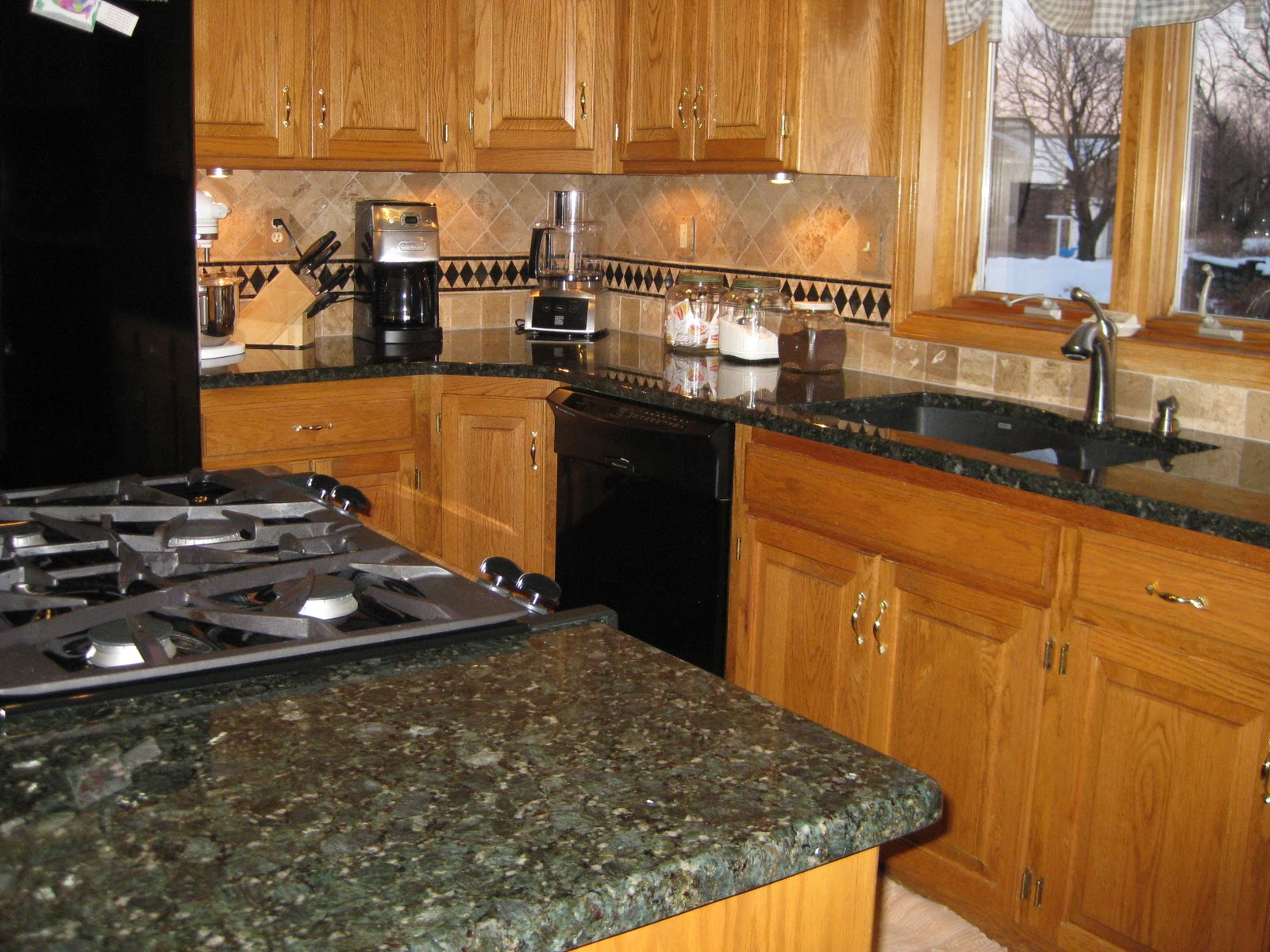 Verde Butterfly Granite Kitchen Stonewood Wood Work February 2011