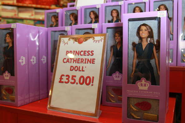 prince william and kate middleton dolls. The doll retailing at £35.00,