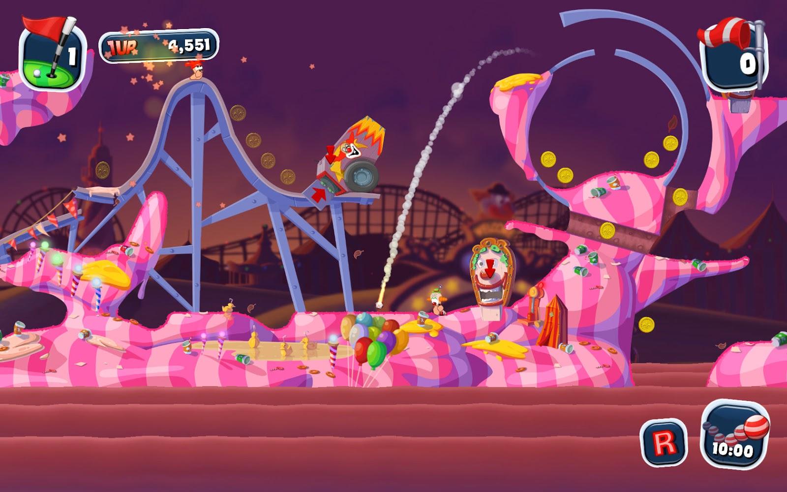 Worms Crazy Golf gameplay
