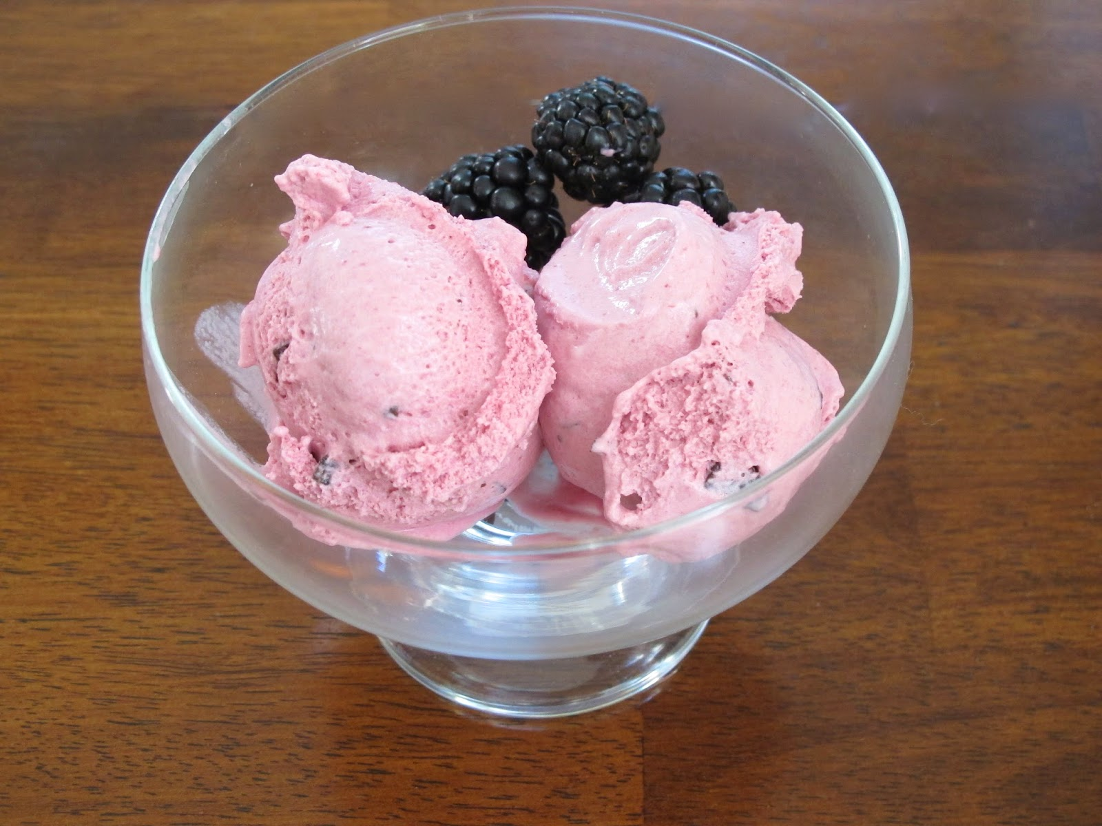 Blackberry Chocolate Chunk Ice Cream