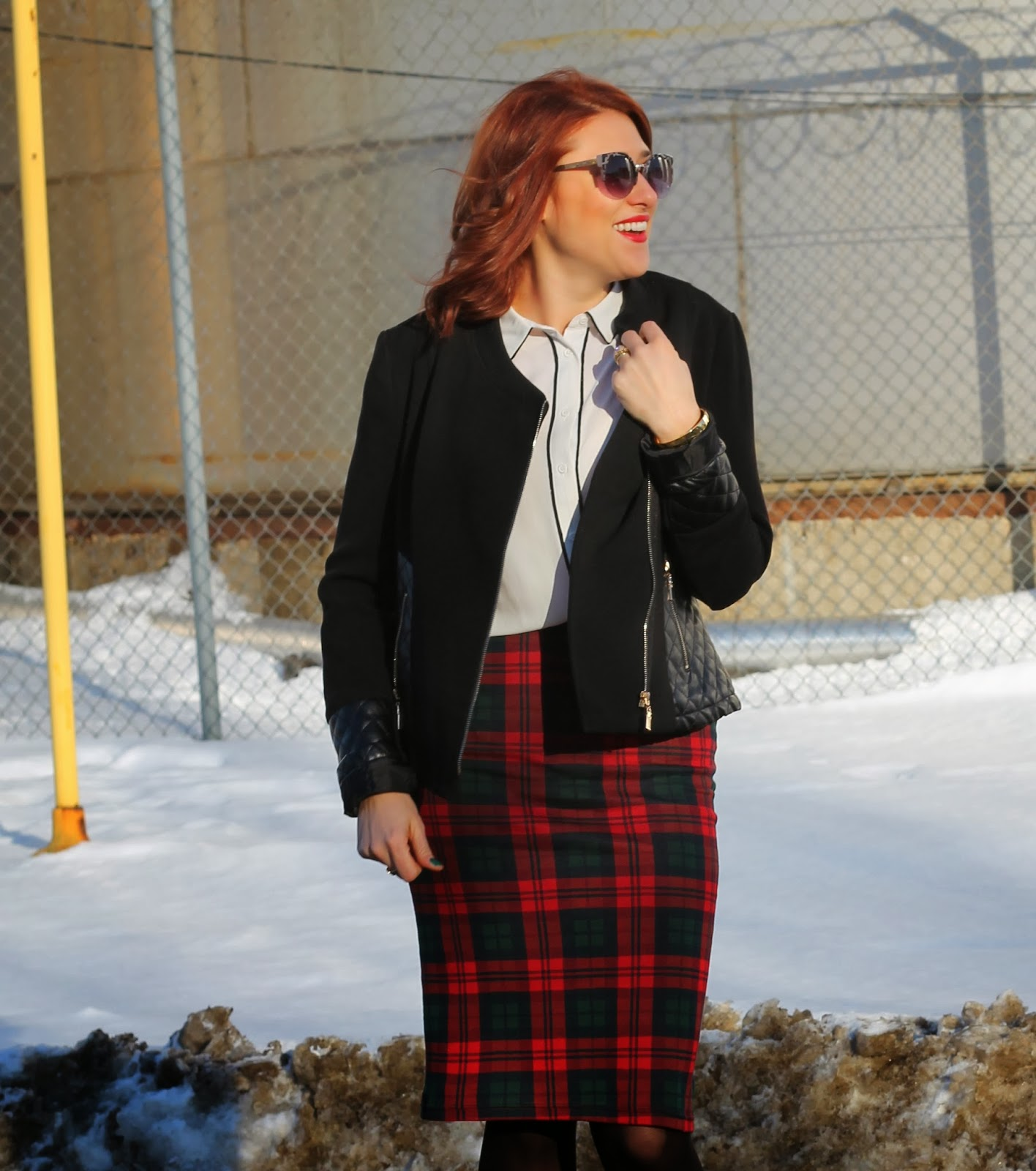 plaid, tube, skirt, topshop