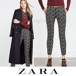 Kate Middleton Style ZARA Floral Print Trousers