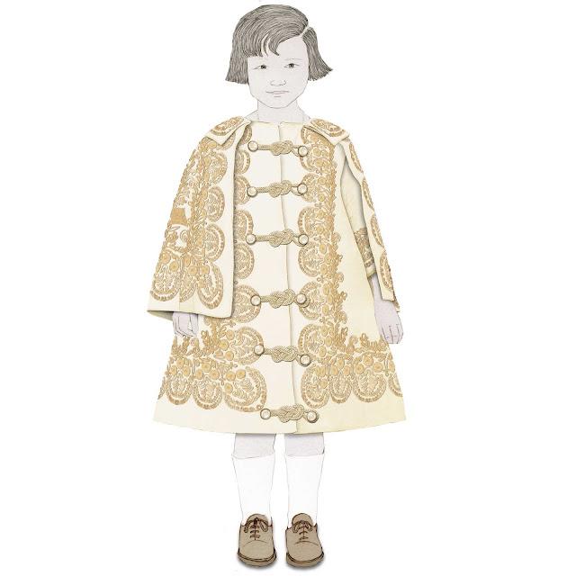 niña , vestidito de seda, años 30, dibujo