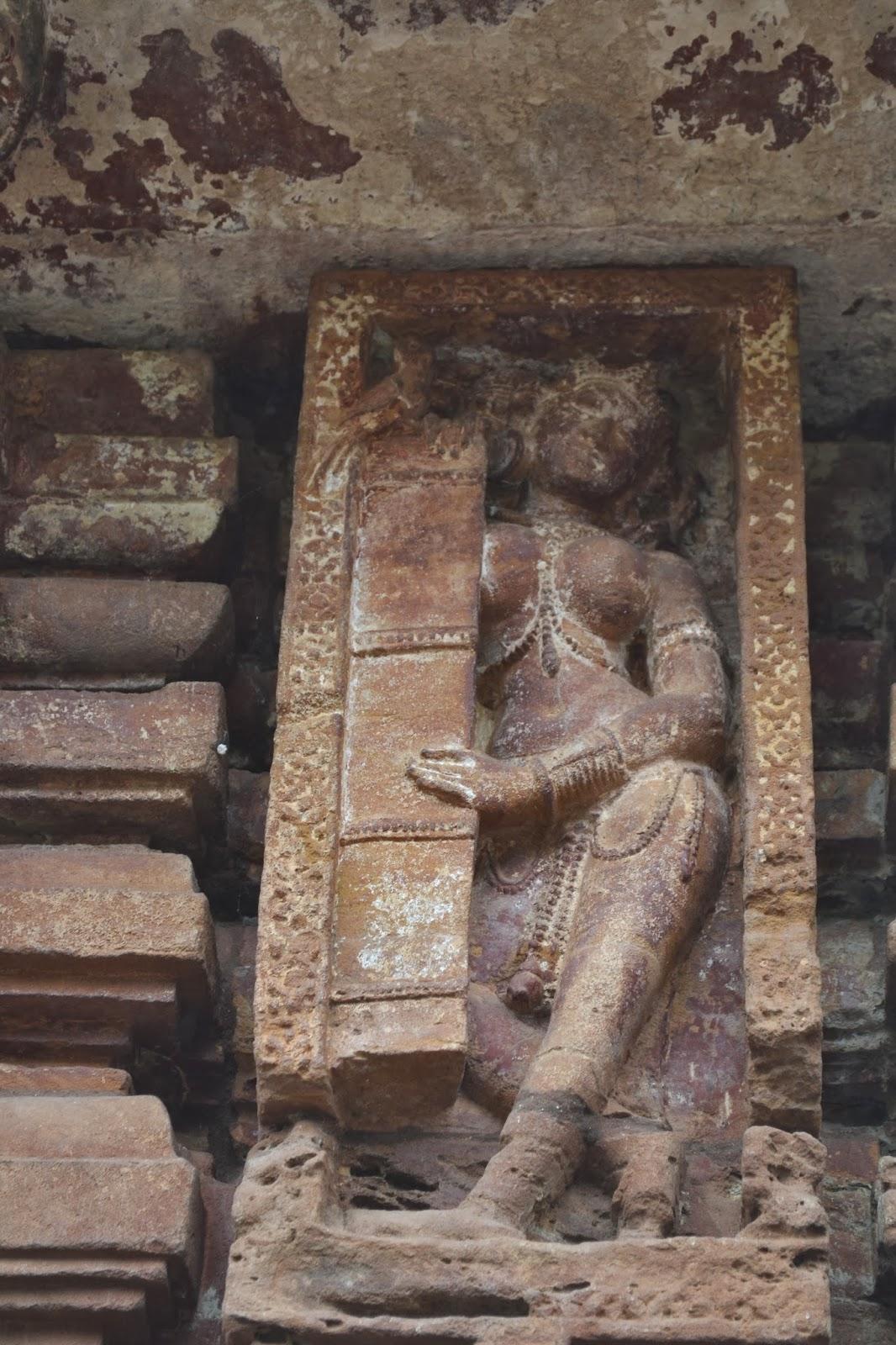 Beautiful  stone sculpture in Mukteswara temple ,bhubaneswar