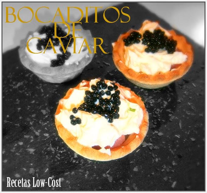 Bocaditos de Caviar.
