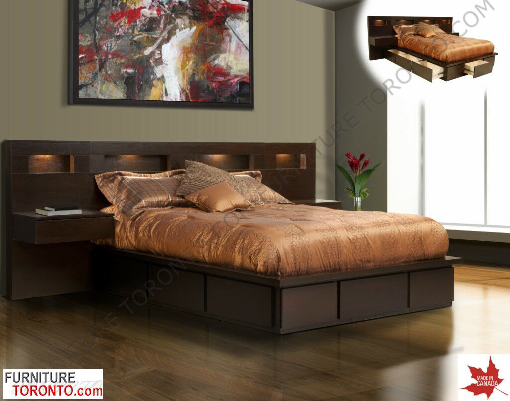 modern bed with drawers  made in canada. modern bed with drawers  made in canada  modern and contemporary