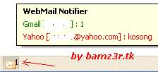 Webmail notifier screenshot 2