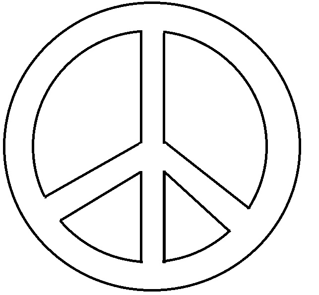 Gratifying image pertaining to printable peace sign