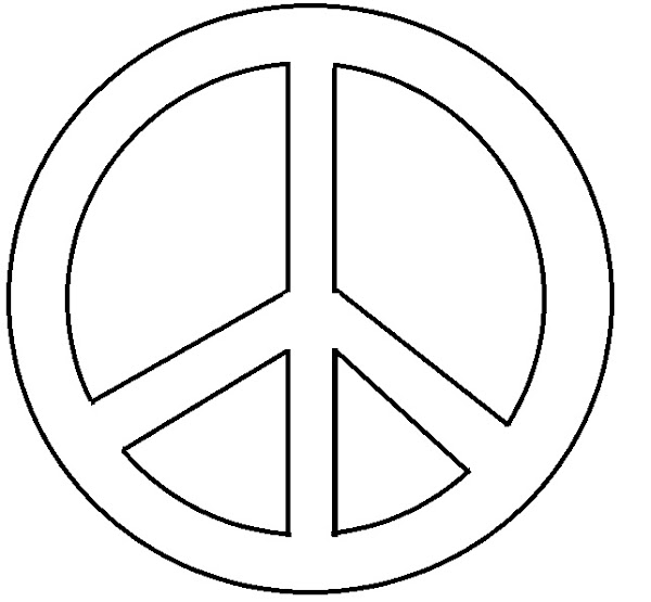 Coloring page sign peace symbol for Peace sign coloring page