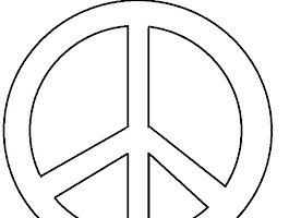 Coloring Page Sign Peace Symbol