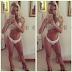 Veridiana Freitas sensualiza de lingerie em frente ao espelho