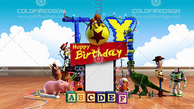 Toy Story Birthday PSD Template