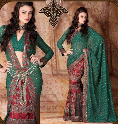 Bridal Lehenga Saree Styles Collection