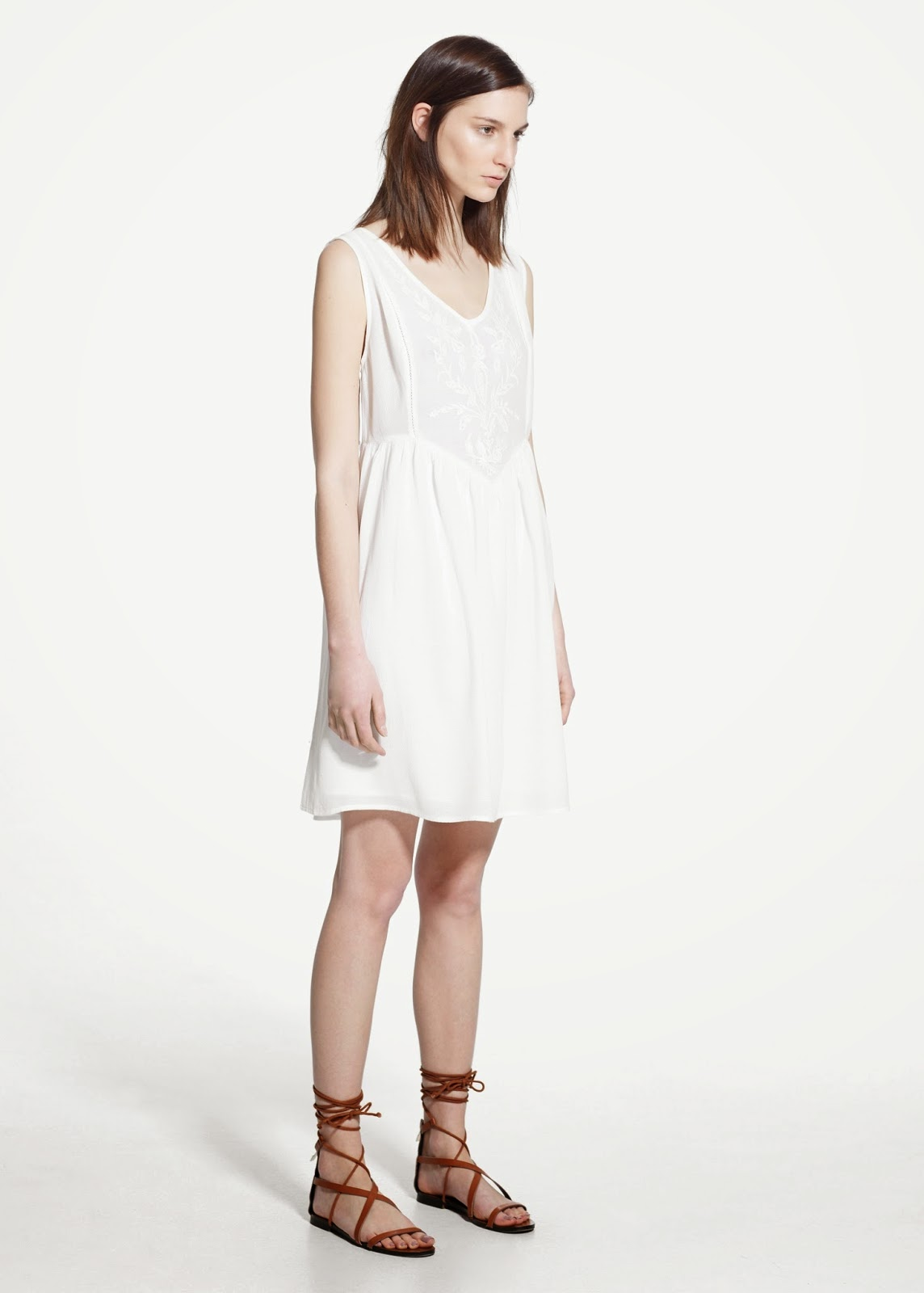 mango white cotton dress
