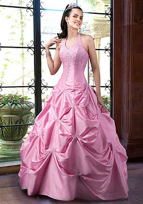 Pink rose wedding dress at Stevies Gowns