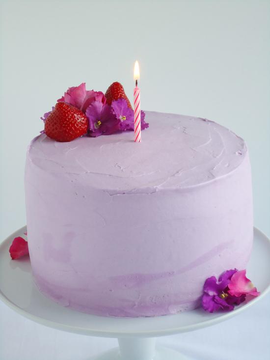 Strawberry Lavender Cake  www.blahnikbaker.com