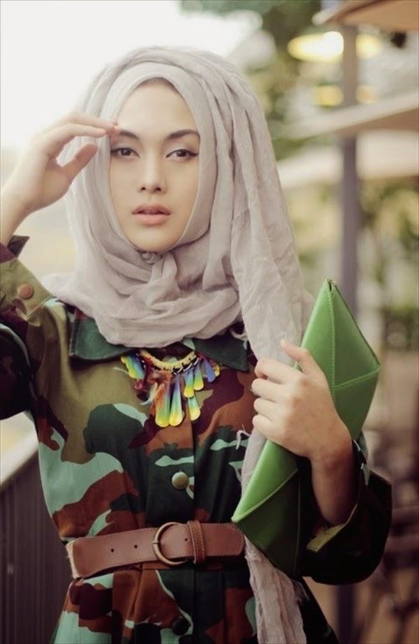 Lebih New & Trendy Saudi Arabian Hijab Style Collection 2014;