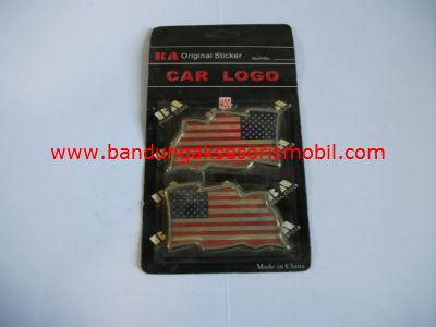 Emblem Bendera Amerika (2 Pcs)