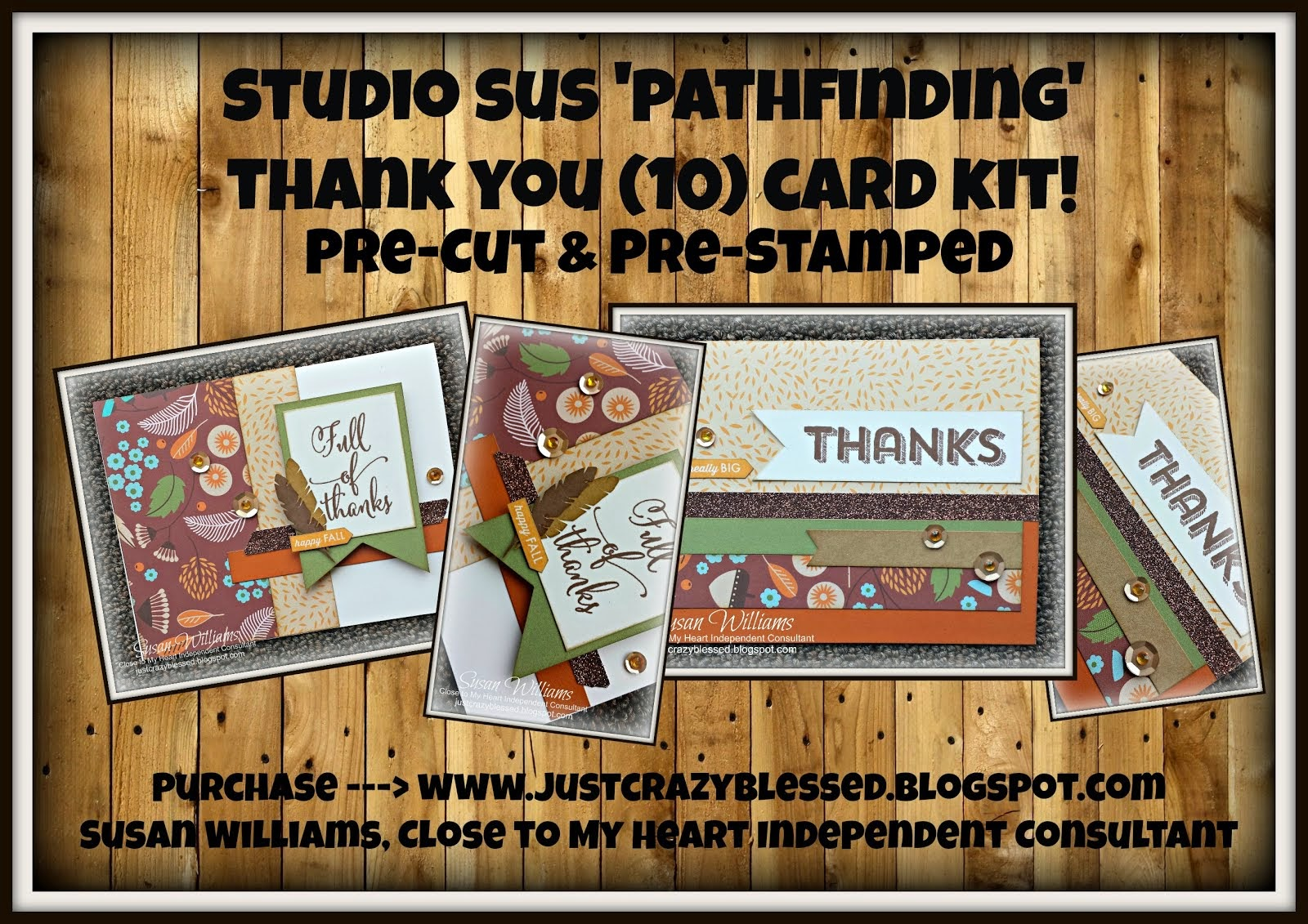 Pathfinding 'Thank You' Pre-Cut & Pre-Stamped (10) Card Kit!