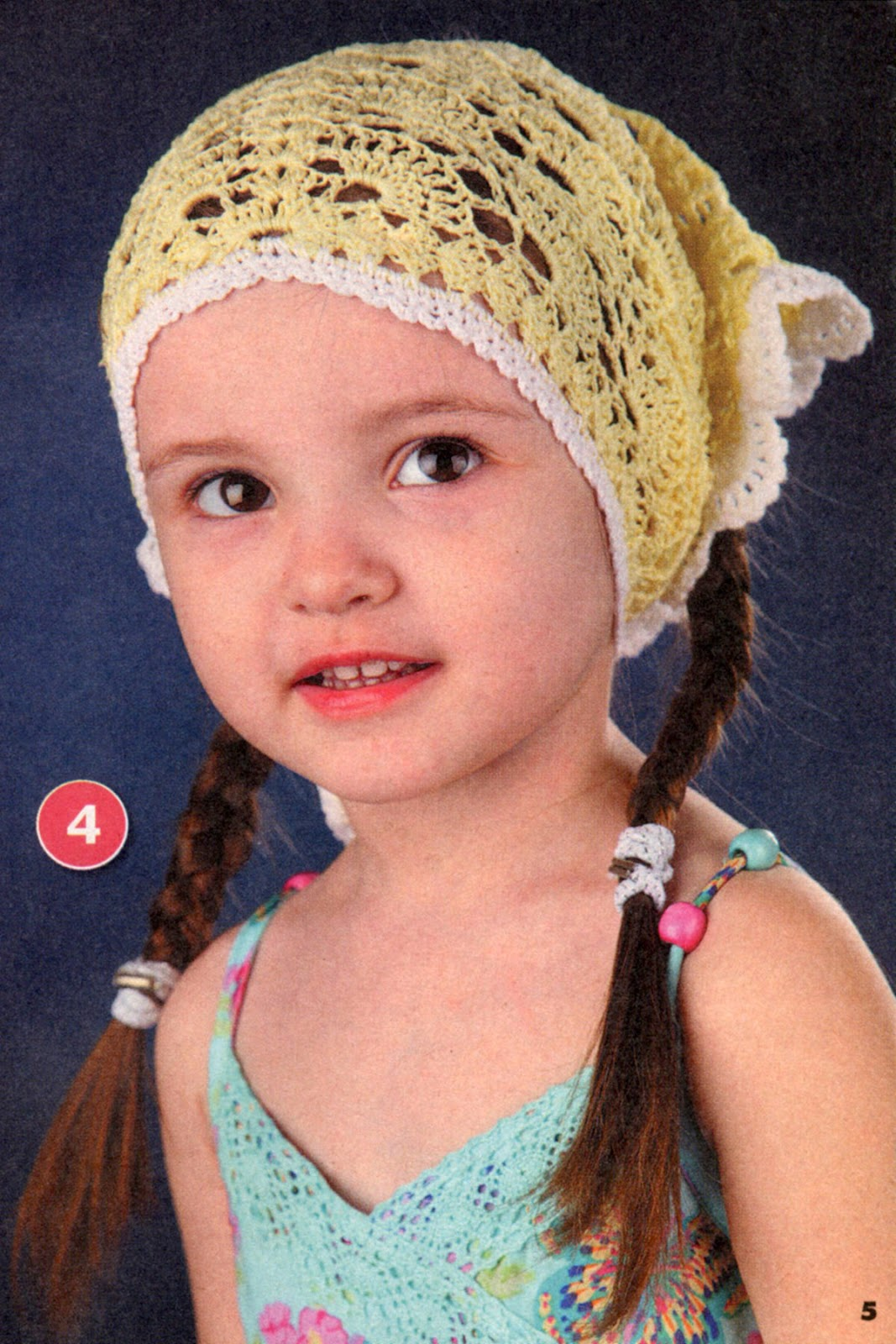 Вязание летних шапочек на девочек до 2 лет 367