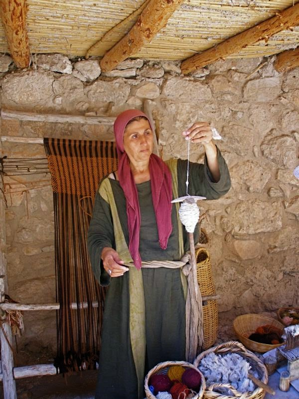 Weaver from Nazareth Villiage  - Picture By See the Holy Land