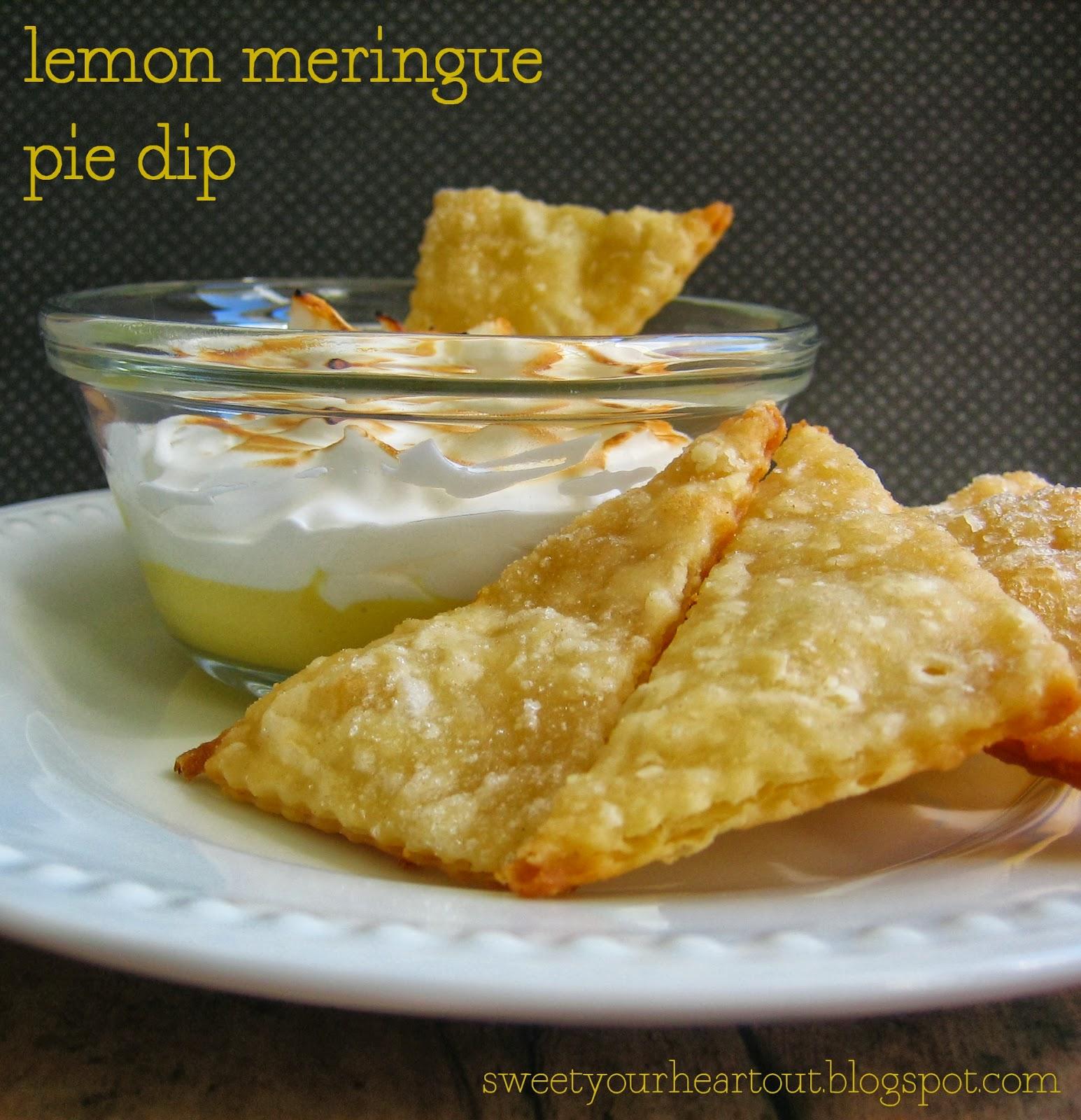 Sweet your heart out lemon meringue pie dip for Lemon meringue pie with graham cracker crust