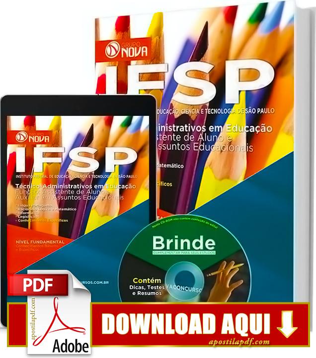 Apostila IFSP 2016 PDF Grátis Download Assistente de Alunos