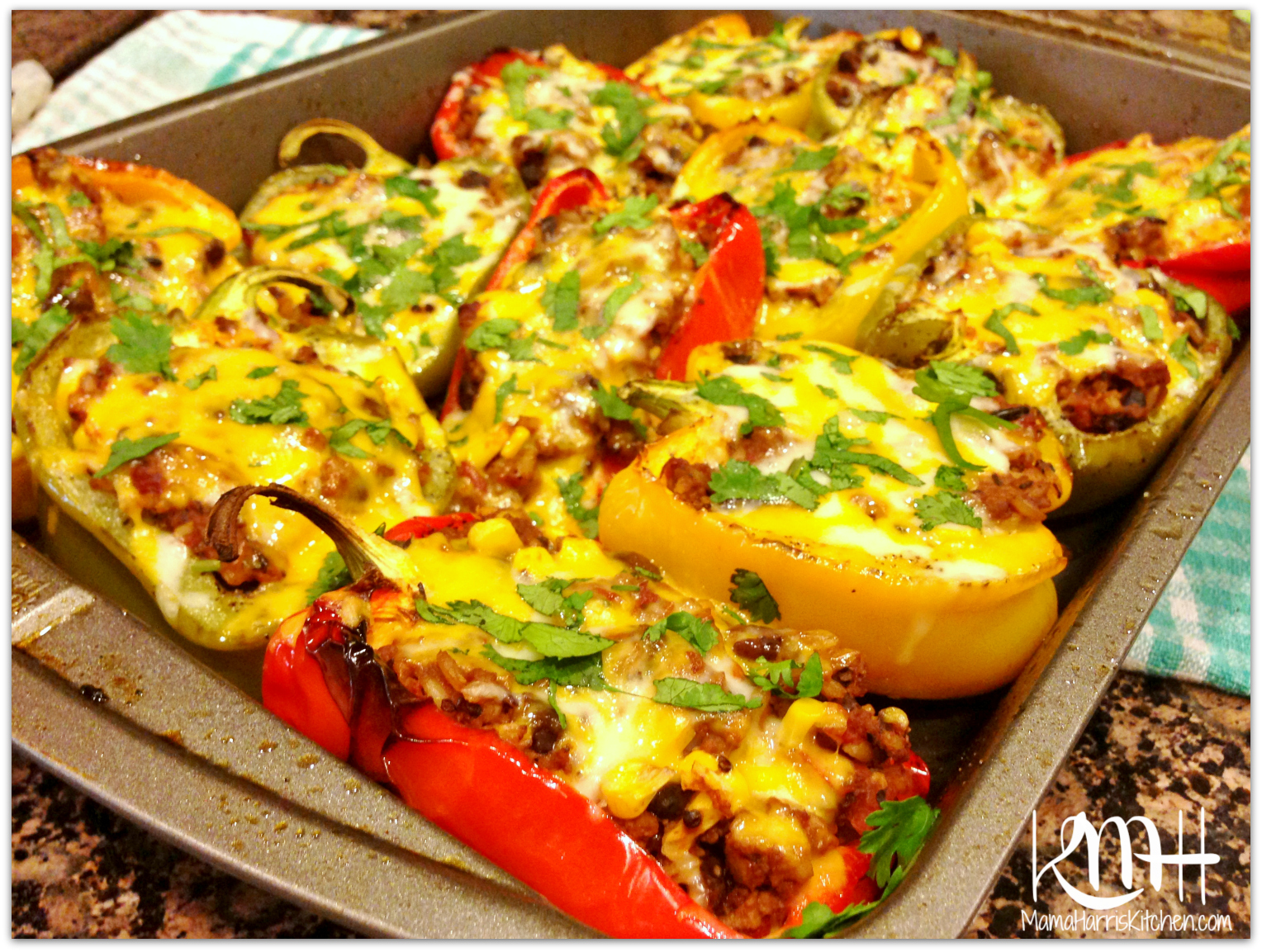 Roasted & Stuffed Bell Peppers | Mama Harris' Kitchen